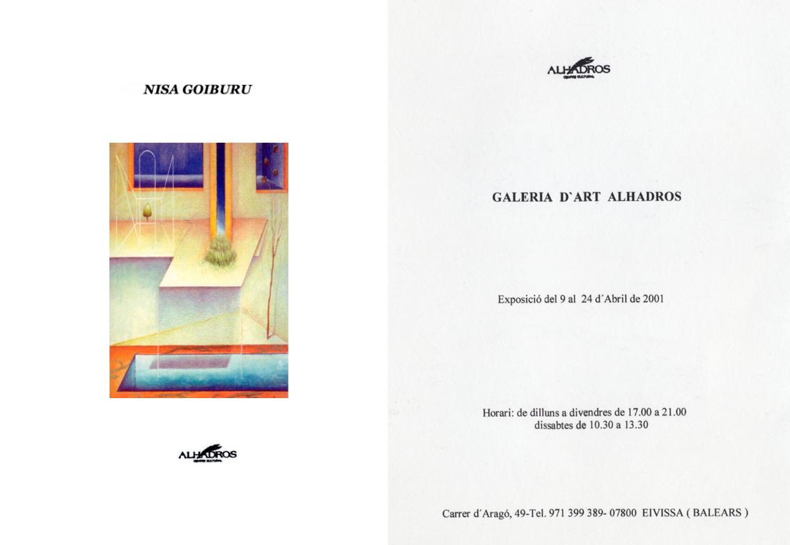 Galería d´Art<br /> Alhandros<br /> (Ibiza) 2001