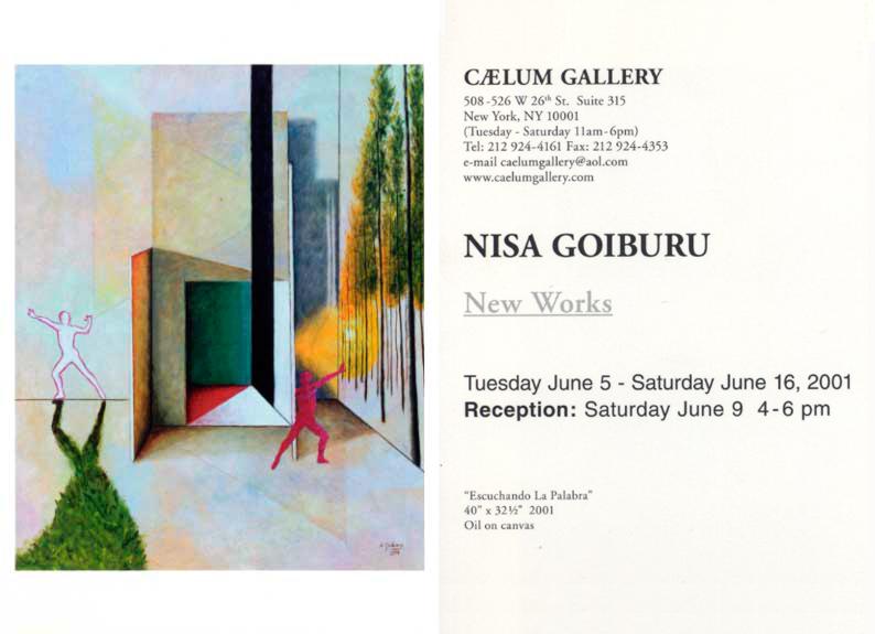 Caelum Gallery<br />(New York) 2001